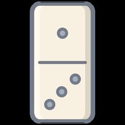 Domino uno tres dados plana