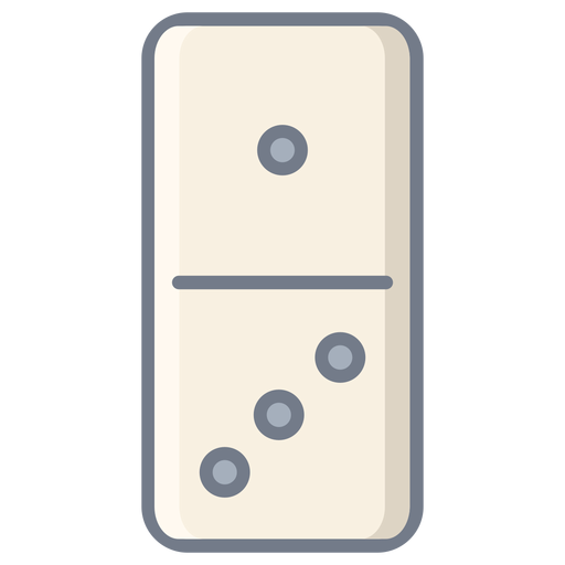 Domino one three dice flat Transparent PNG