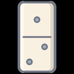 Domino uno dos dados plana