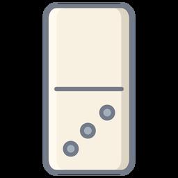 Domino tres dados planos