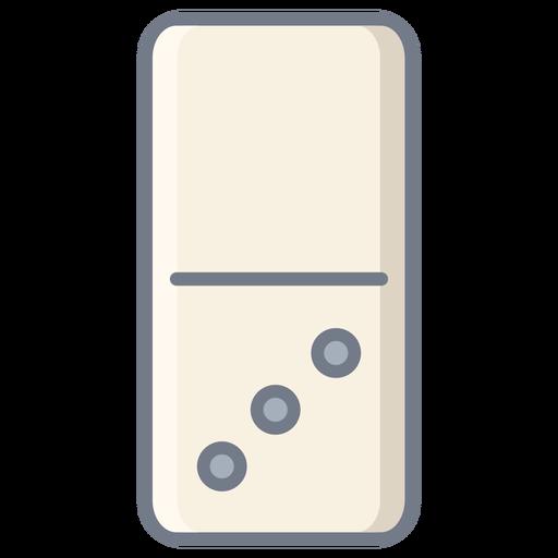 Domino three dice flat Transparent PNG