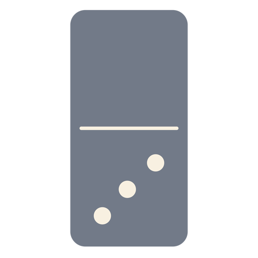 Domino three dice silhouette Transparent PNG