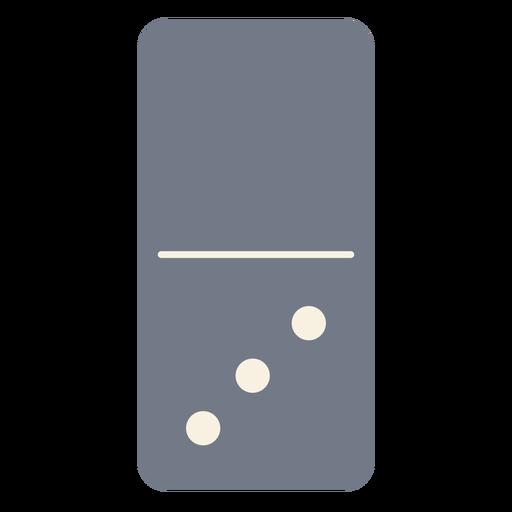 Domino tres dados silueta