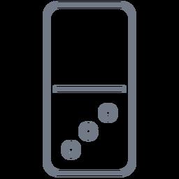 Domino de tres dados.