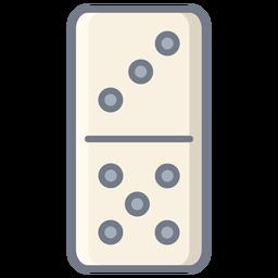 Domino three five dice flat