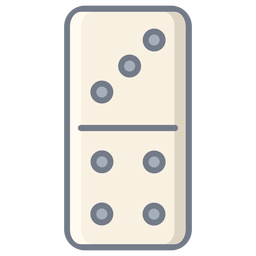 Domino three four dice flat