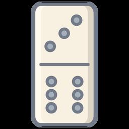 Domino três seis dados planos