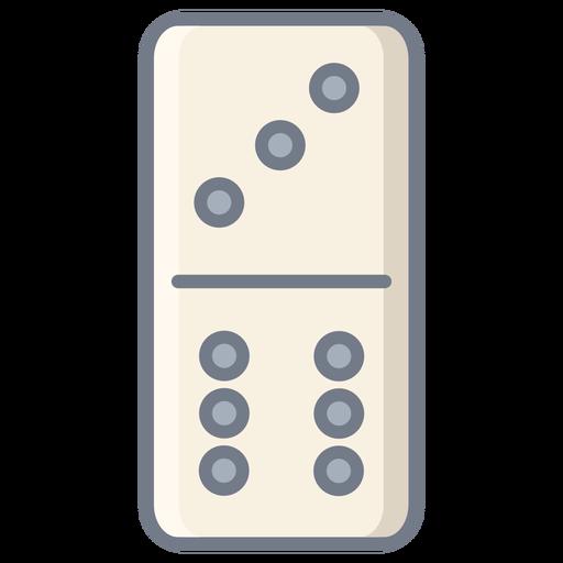 Domino three six dice flat