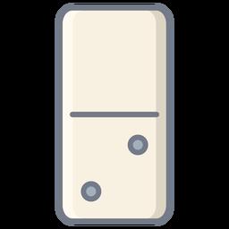 Domino dois dados planos