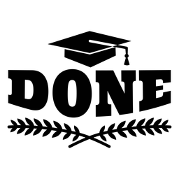 Etiqueta engomada de la tapa académica hecha rama