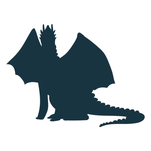Dragon tail wing flying scales silhouette Transparent PNG