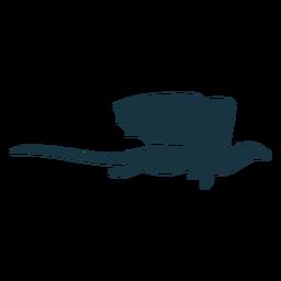 Drachenflügelschuppen Schwanz fliegen Silhouette