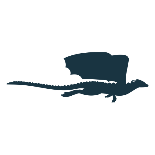 Dragon wing scales tail flying silhouette Transparent PNG