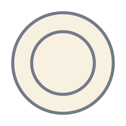 Esboço de círculo plano Transparent PNG