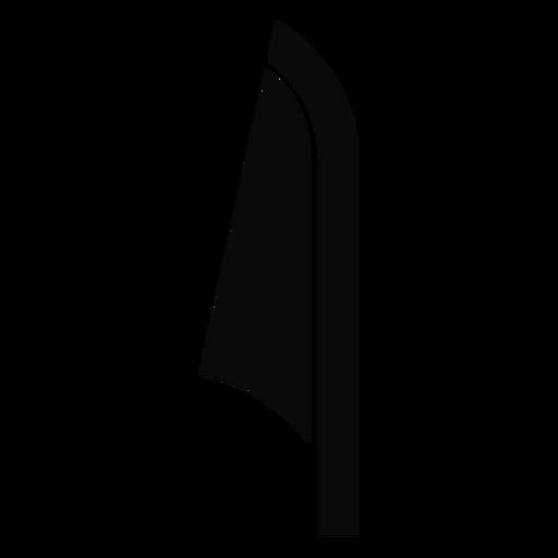 Silhueta detalhada da folha de cana E Transparent PNG
