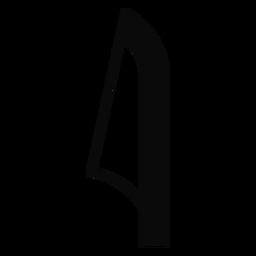 Silueta detallada de caña de hoja E