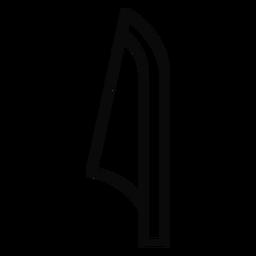 Trazo de caña de hoja E