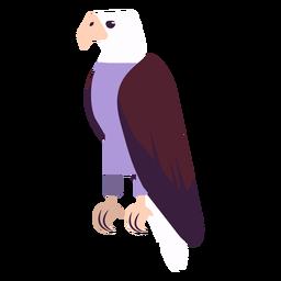 Ala de garra de águila pico redondeado plano.