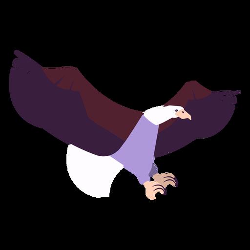 Mosca de asa de águia voando garra de bico arredondada plana Transparent PNG