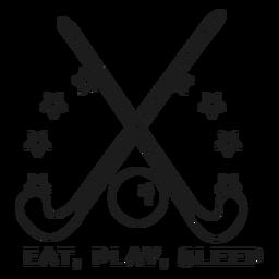 Comer jugar dormir palo bola insignia trazo