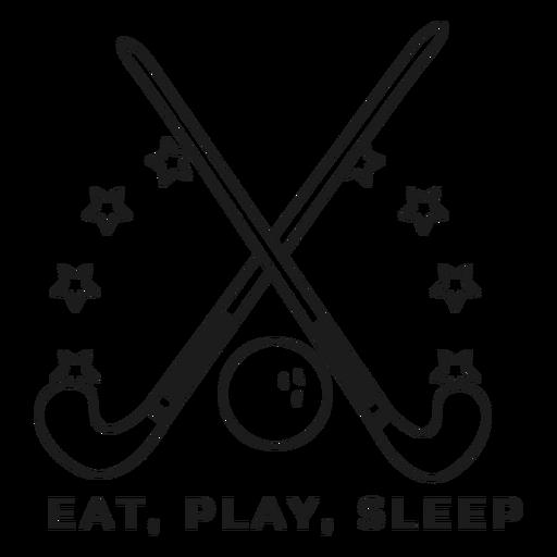 Eat play sleep stick ball badge stroke