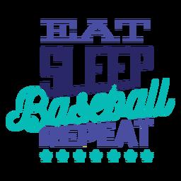 Coma a etiqueta do crachá da estrela da repetição do basebol do sono