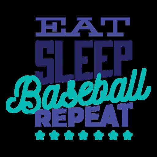 Eat sleep baseball repeat star badge sticker