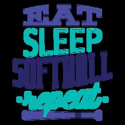 Coma la etiqueta de la insignia de la estrella de la repetición del softball del sueño