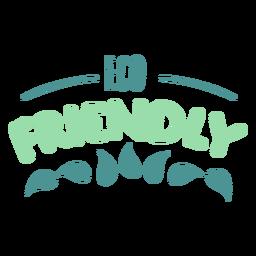 Eco friendly leaf badge sticker