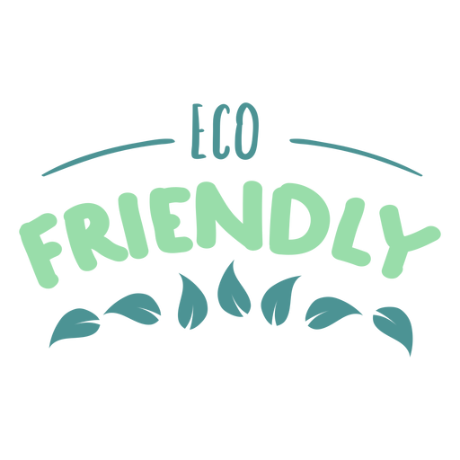 Adesivo de crachá de folha amigável de eco Transparent PNG