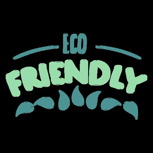 Eco friendly leaf badge sticker Transparent PNG