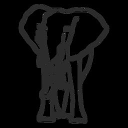 Flaches Gekritzel des Elefantenelfenbeinstamm-Ohrs