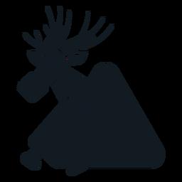 Elk moose hoof muzzle antler detailed silhouette