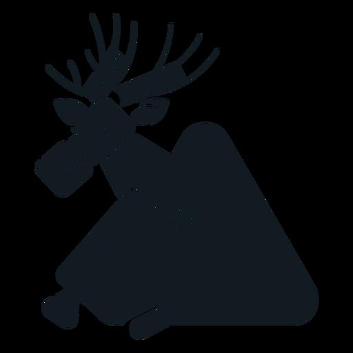 Elk moose hoof muzzle antler detailed silhouette Transparent PNG