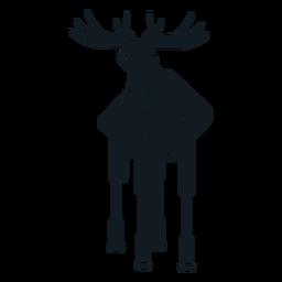 Elk moose muzzle antler hoof detailed silhouette