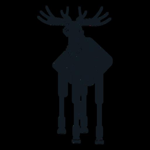 Elk moose muzzle antler hoof detailed silhouette Transparent PNG