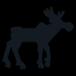 Elk moose muzzle hoof antler detailed silhouette