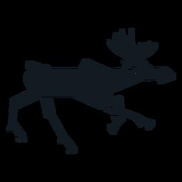 Elk moose running muzzle hoof antler detailed silhouette