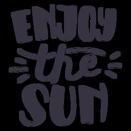 Disfruta de la pegatina de la insignia del sol