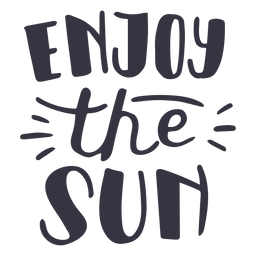 Enjoy the sun badge sticker