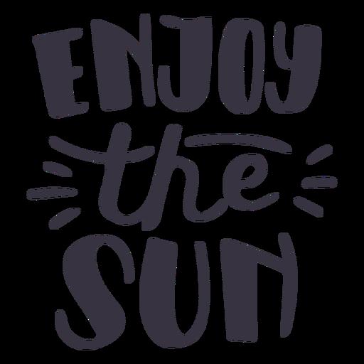 Disfruta de la etiqueta de la insignia del sol. Transparent PNG