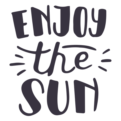 Enjoy the sun badge sticker Transparent PNG