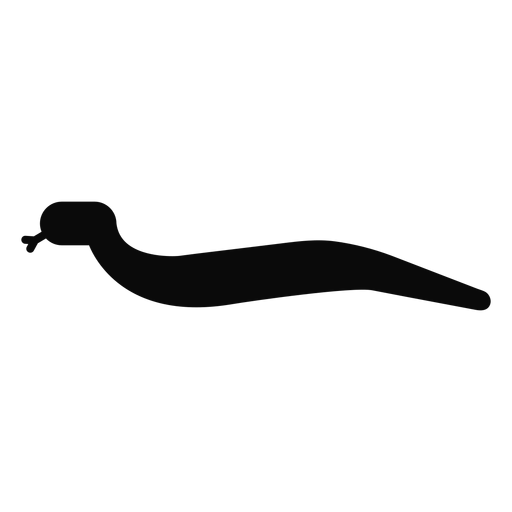 F v snake forked tongue silhouette Transparent PNG