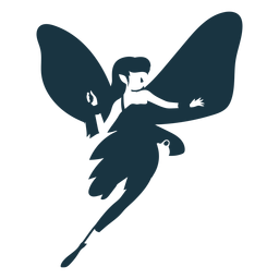 Fairy wing detailed silhouette