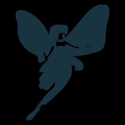 Silhueta detalhada de asa de fada Transparent PNG