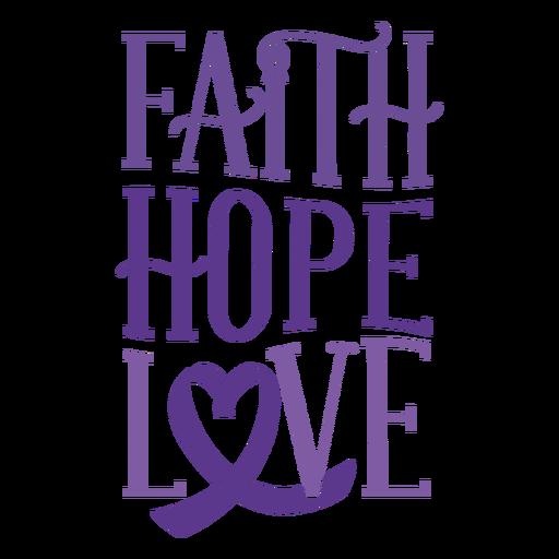 Faith hope love heart ribbon badge sticker Transparent PNG