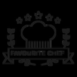 Linha de crachá de estrela de ramo de chef favorito