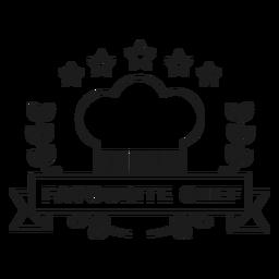 Chef favorito rama estrella tapa insignia trazo