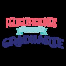 Felicitaciones por graduarte ribbon sticker