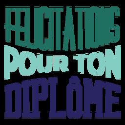 Etiqueta de felicitaciones para el diplôme